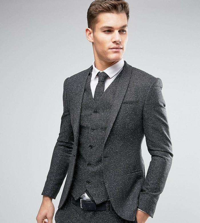 faire un noeud de cravate nuances de gris