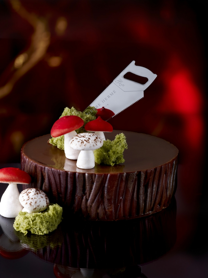 gâteau idée décoration bûche de noël