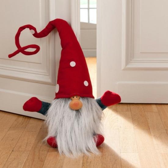 gnome de noël diy arrêt de porte
