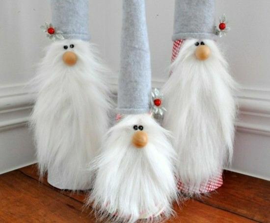 gnome de noël diy barbe fausse fourrure