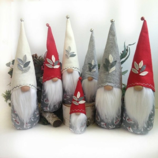 gnome de noël diy chapeau avec cloche