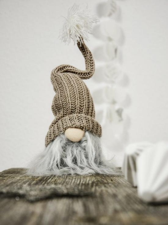 gnome de noël diy chapeau crochet