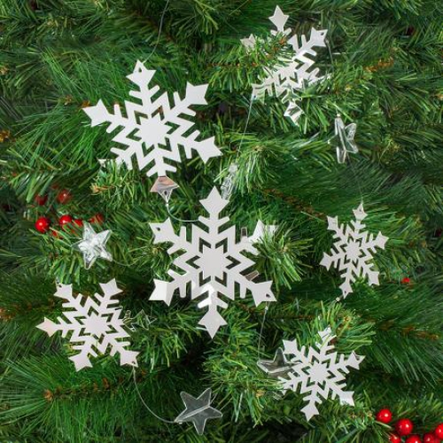 guirlande de Noël flocons de neige en papier