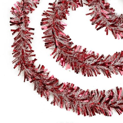 guirlande de Noël rouge et blanc entrelacés
