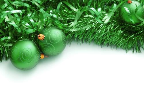 guirlande de Noël rubans verts