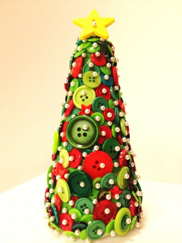 Idée Bricolage Noël Avec Des Boutons Tutoriels Et Photos