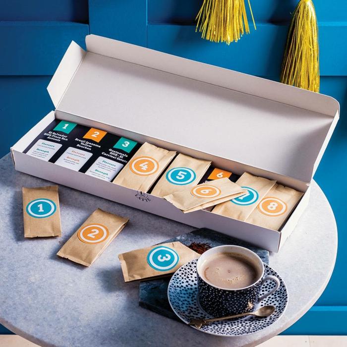 idée calendrier de l'Avent homme capsules de café et sachets de thé