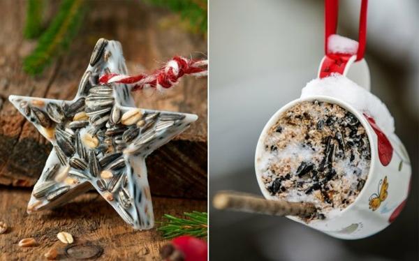 idée créative de mangeoire oiseaux comestible à faire soi-même