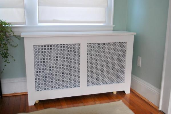 идея декорирования спальни изготовление крышки радиатора