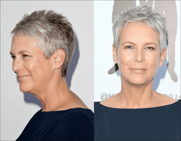 idée de coiffure stylée coupe cheveu courts femme 50 ans