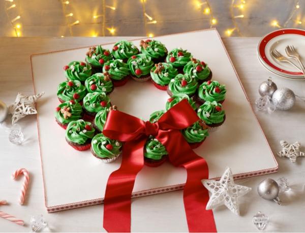 idée de couronne noël cupcakes