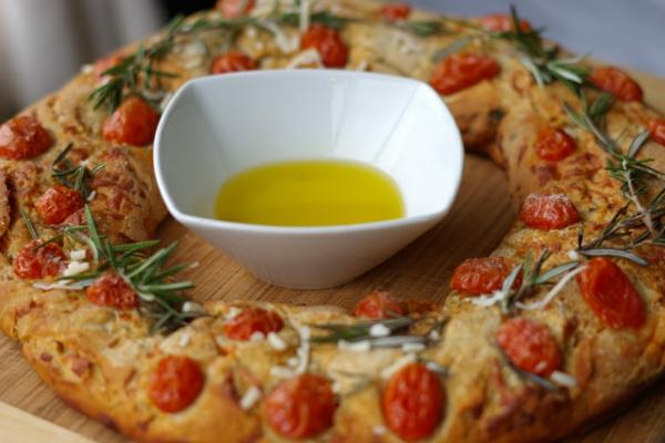 idée de couronne noël pain au romarin