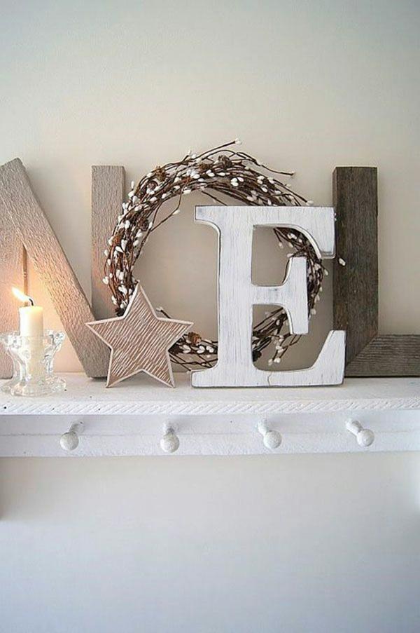 idée de déco de noël scandinave élément décoratif en bois