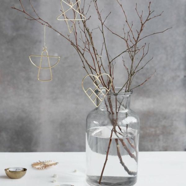 idée de déco de noël scandinave élément décoratif en métal
