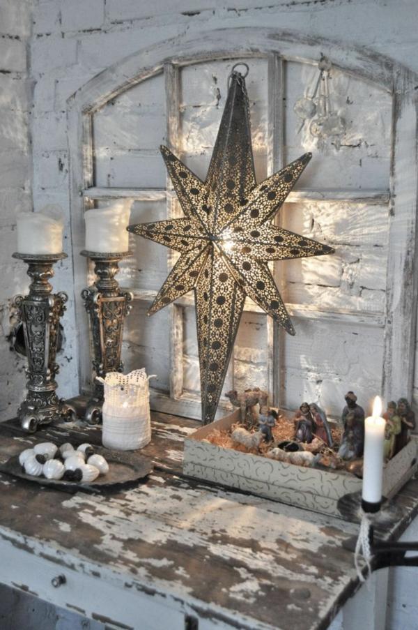 idée de déco de noël scandinave étoile lumineuse