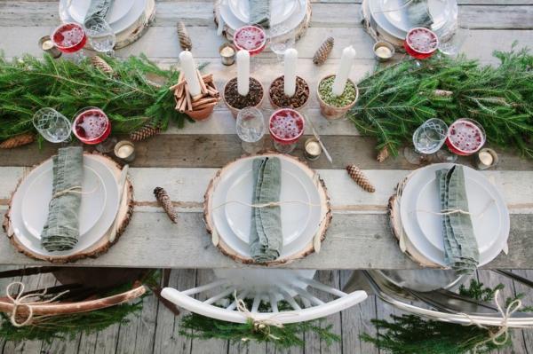 idée de déco de noël scandinave décoration de table