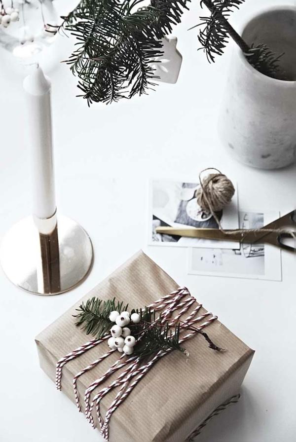 idée de déco de noël scandinave emballage cadeau