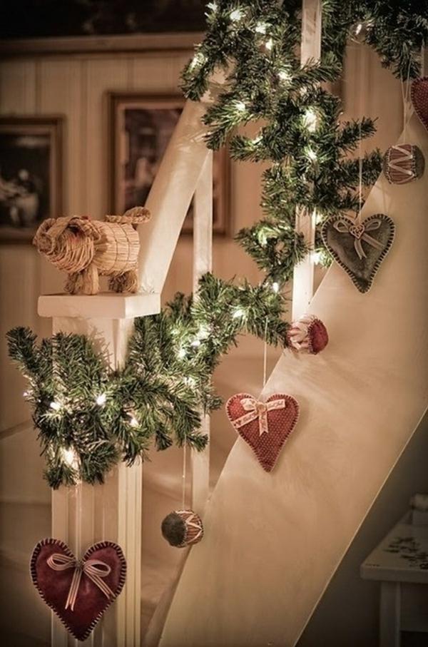idée de déco de noël scandinave escalier