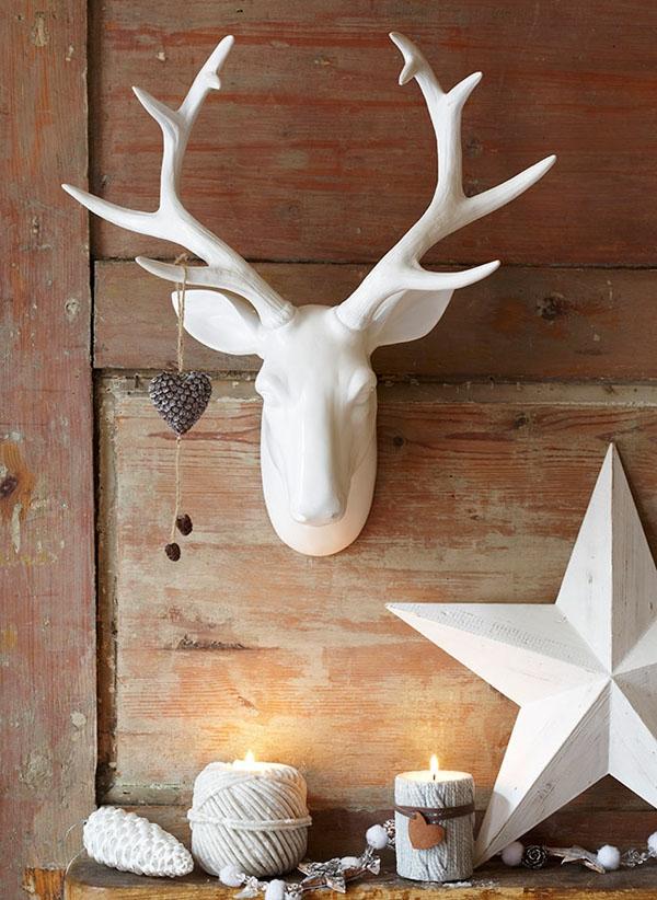 idée de déco de noël scandinave ornements en bois