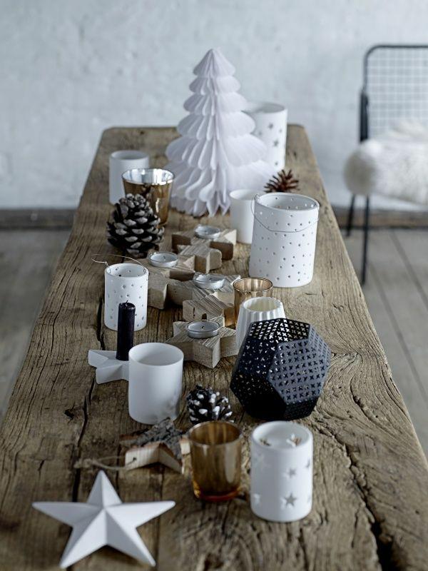 idée de déco de noël scandinave papier et bois