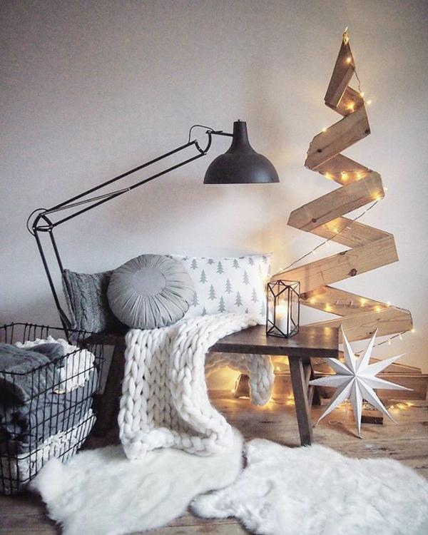 idée de déco de noël scandinave sapin en bois diy