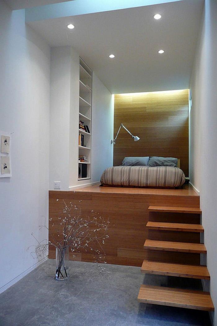 idée estrade en bois pour studio