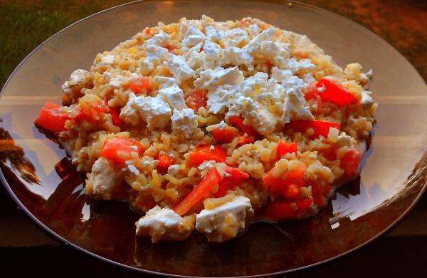 idée menu végétarien rizotto avec du boulgour