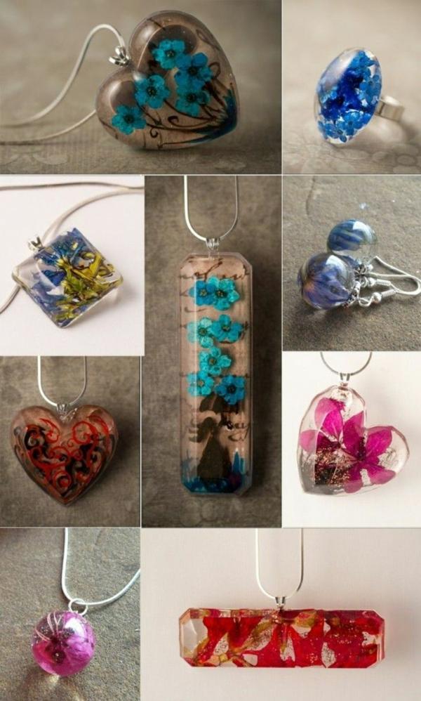 idées de bijoux en résine diy