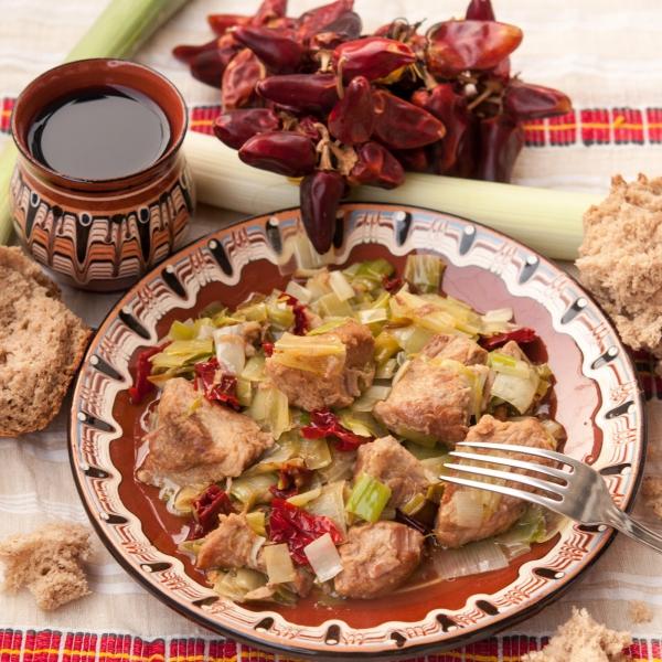 idées repas Noël du porc aux poireaux