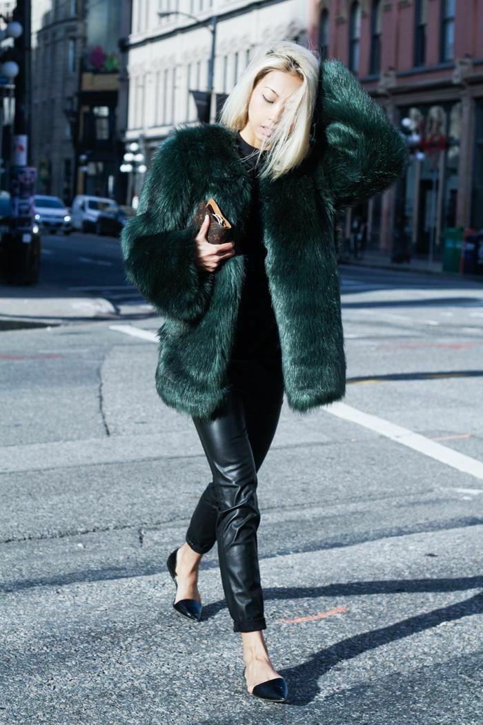 manteau en fausse fourrure élégant