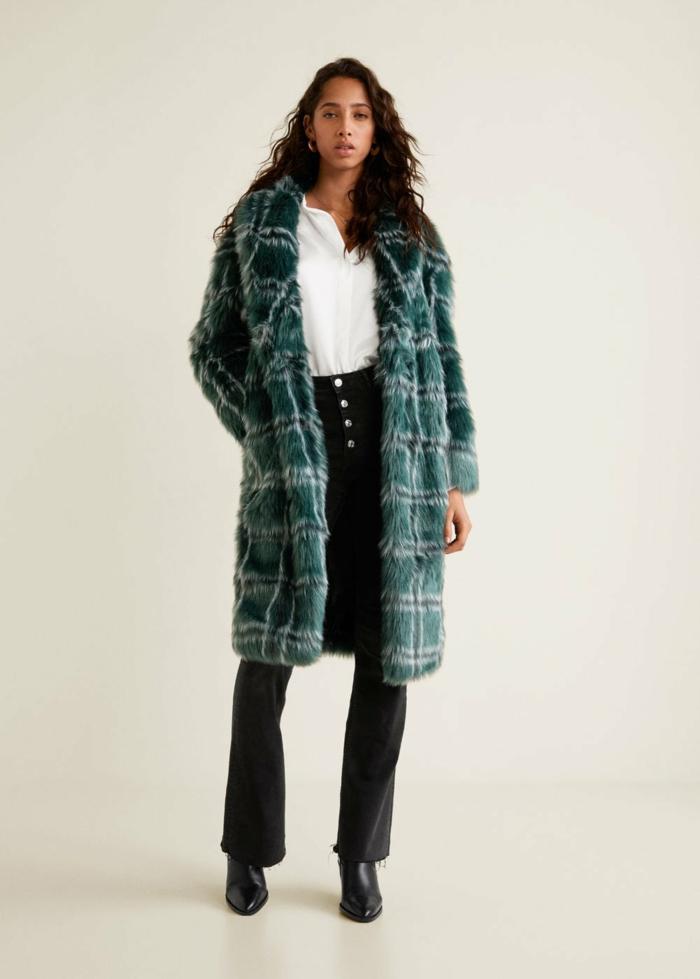 manteau en fausse fourrure moderne pour l'hiver