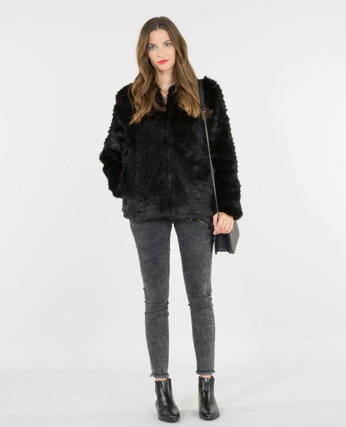manteau en fausse fourrure pour l'hiver