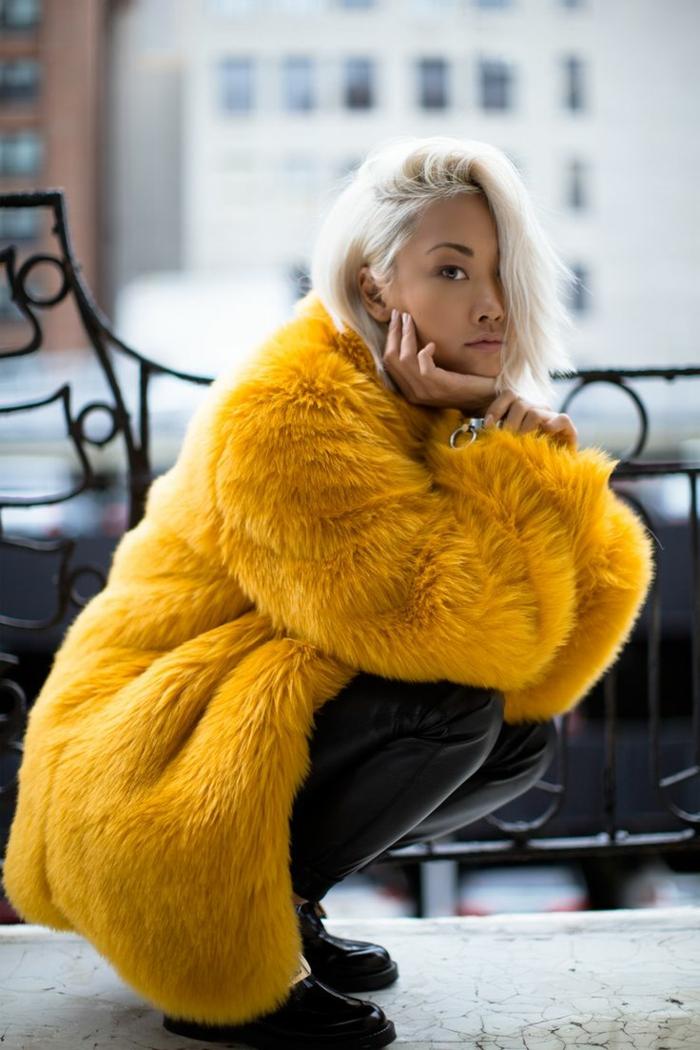 manteau en fausse fourrure tendance hiver 2019