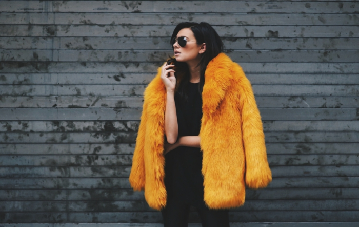 manteau en fausse fourrure tendance