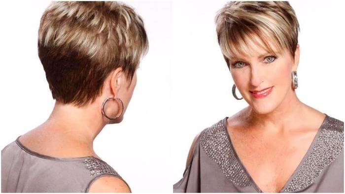 modèle de coiffure pour femme de 50 ans raccourci blond