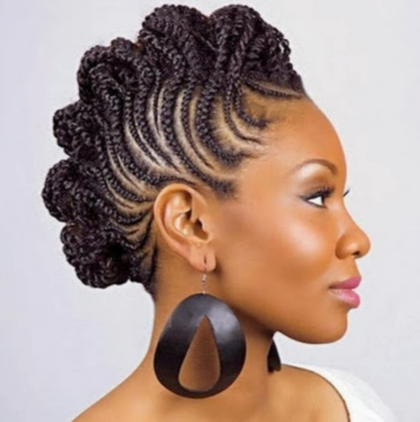 modèle de tresse africaine pour femme élégance et fantaisie