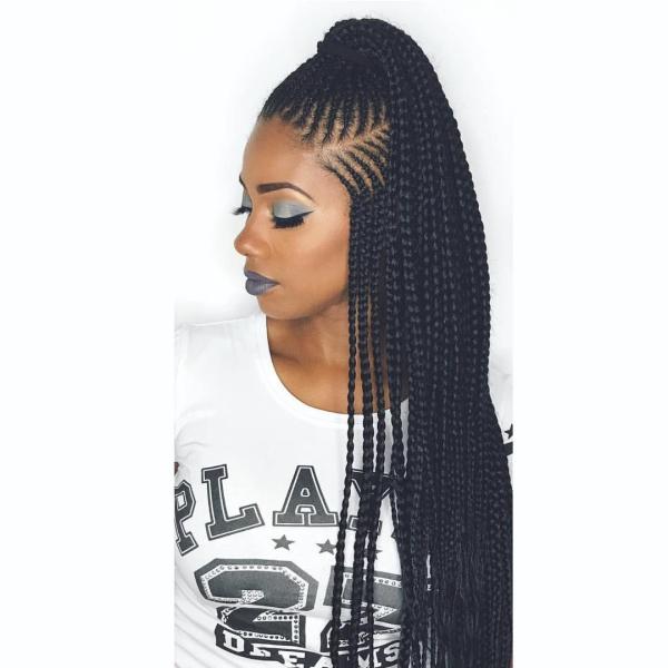 modèle de tresse africaine pour femme cascade de tresses