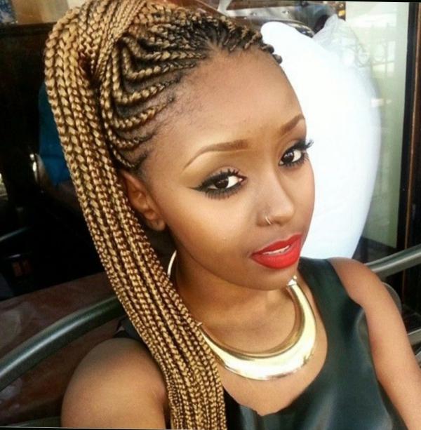 modèle de tresse africaine pour femme queue et chignon