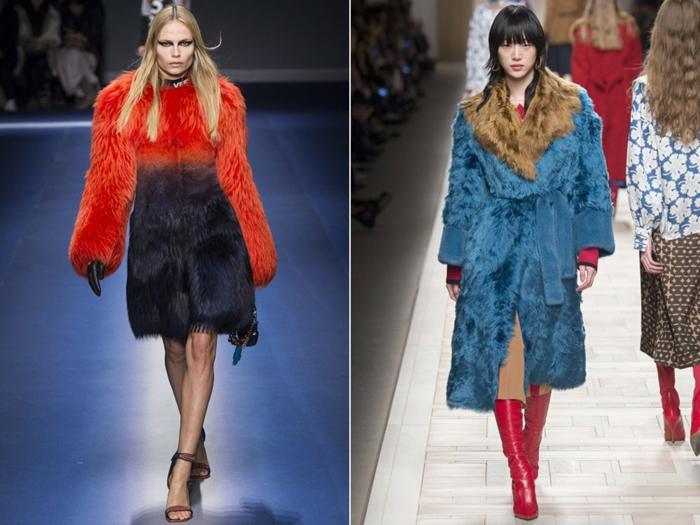 mode femme manteau en fausse fourrure idées