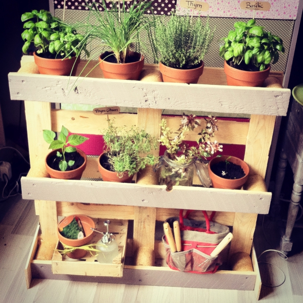 mur végétal palette faite DIY