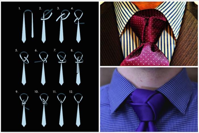 pas à pas faire un noeud de cravate