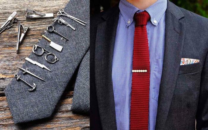 pince à cravate faire un noeud de cravate