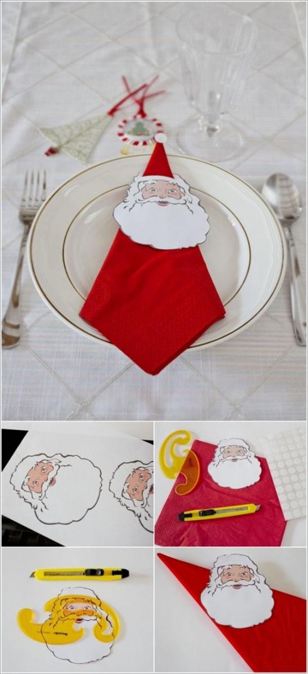 pliage serviette Noël de pliage facile