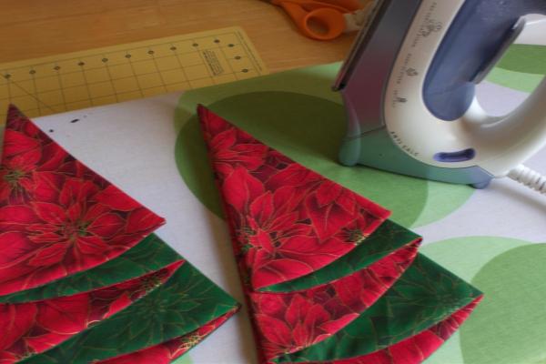 pliage serviette Noël le sapin est prêt