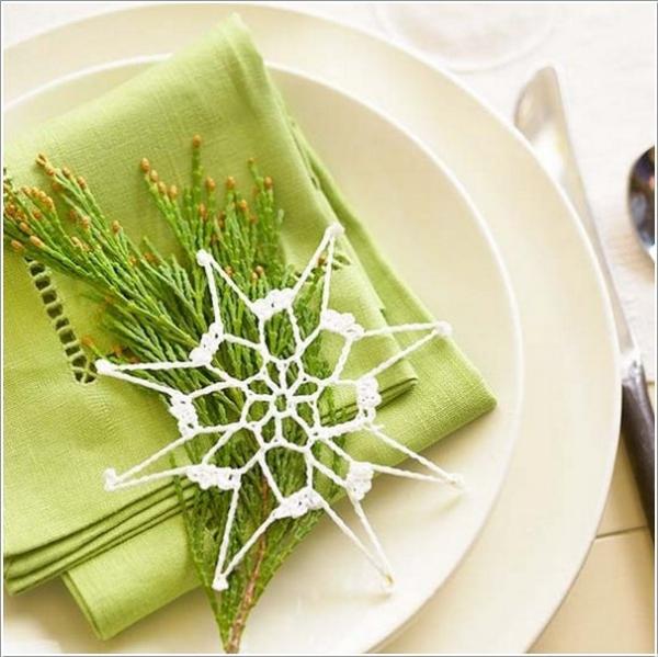pliage serviette Noël serviette décorée