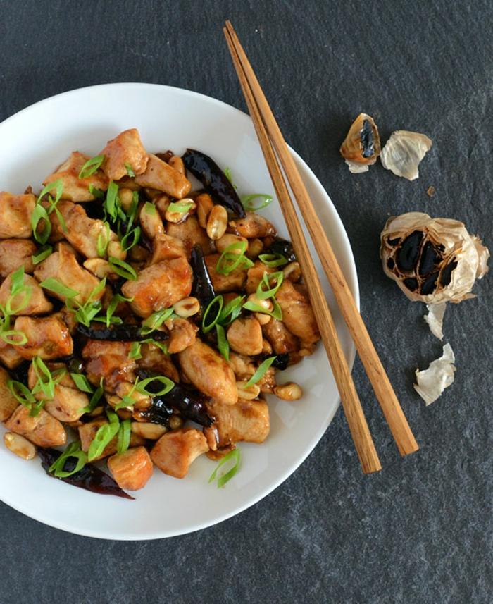 poulet au ail noir fermenté