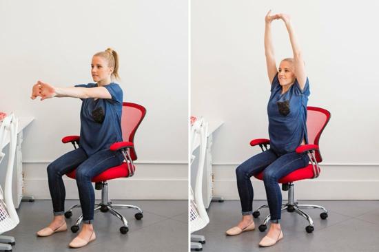 prévenir les problèmes de dos au bureau exercises