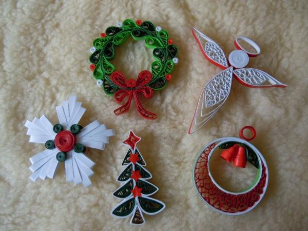 quilling Noël bel ensemble