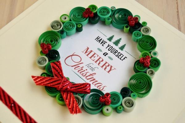quilling Noël cadeau décoré