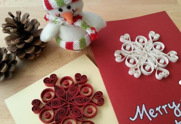 quilling Noël cartes de voeux